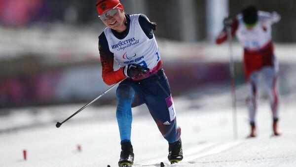 Владислав Лекомцев (Россия) на финише гонки на дистанции 20 км