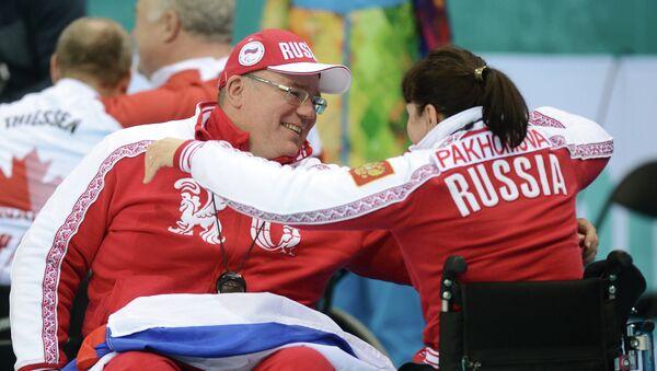 Игроки сборной России по керлингу на колясках. Архивное фото