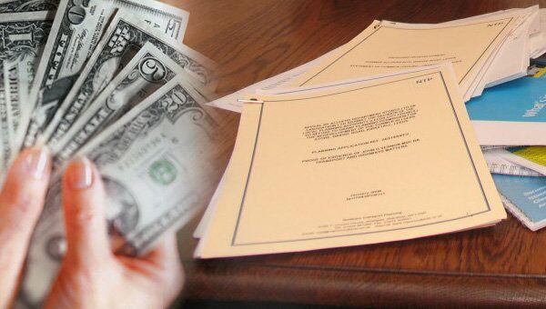 Документы, бумаги, доллар, деньги, договор, сделка