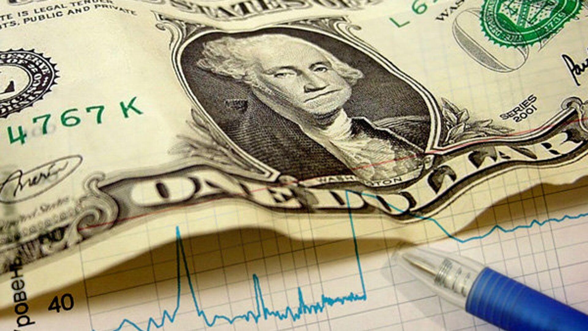 Доллар, деньги, график, биржа, акции, облигации, снижение, увеличение - РИА Новости, 1920, 01.02.2021