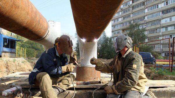 Замена труб на теплотрассе