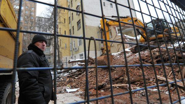 Снос дома в Большом Козихинском переулке в Москве Большой Козихинский 25