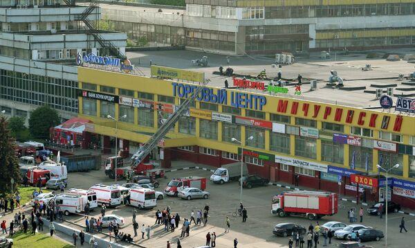 Обрушение конструкций в торговом центре Мичуринский