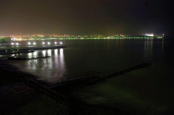 Побережье Черного моря в городе Геленджик