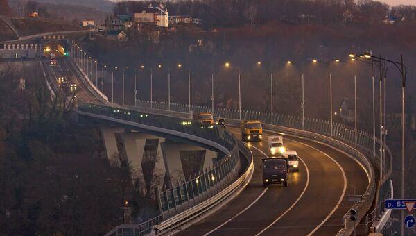 Участок объездной дороги вокруг Сочи