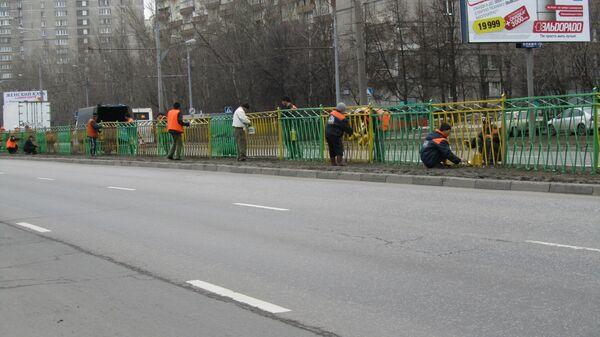 В Москве началось ежегодное апрельское благоустройство города