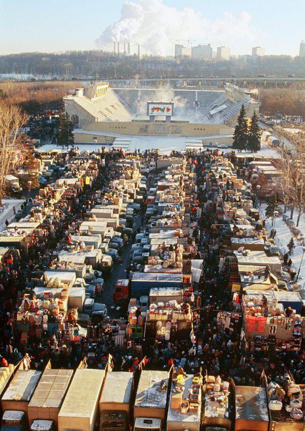 Вещевой рынок в Москве