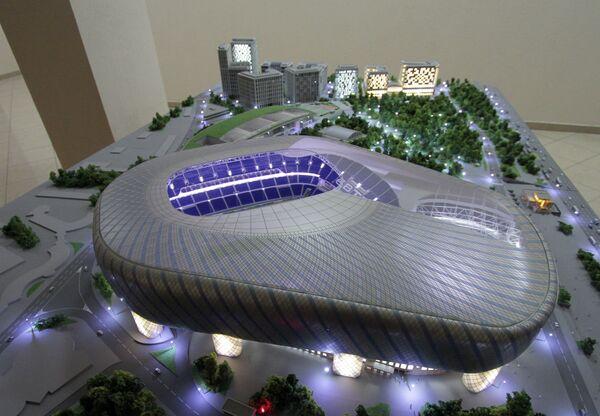 Макет проекта «ВТБ Арена парк» в Москве