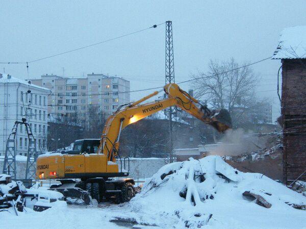 Паровозное депо станции Подмосковная в Москве. Деревянный жилой дом.
