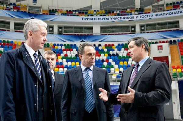 Мэр Москвы Сергей Собянин посетил Дворец спорта Мегаспорт