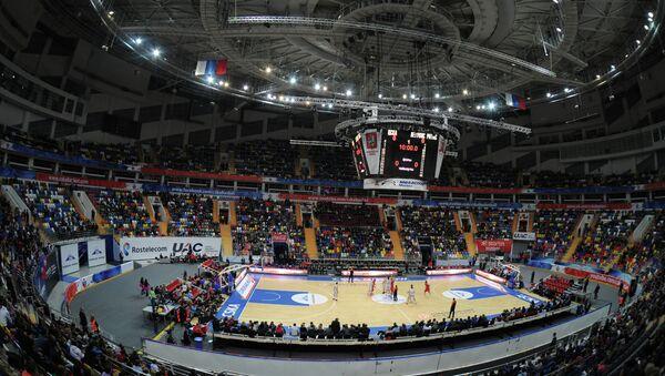 Вид на спортивную арену ДС Мегаспорт