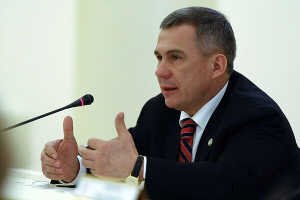 Президент Татарстана Рустам Минниханов. Архив