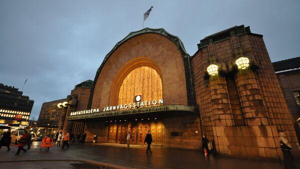 Вокзал в Хельсинки. Архивное фото