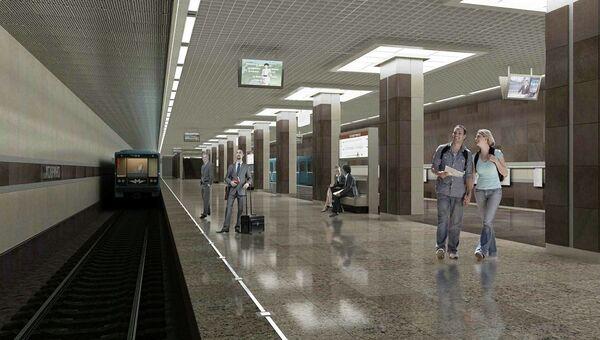 Проект станции метро Ховрино