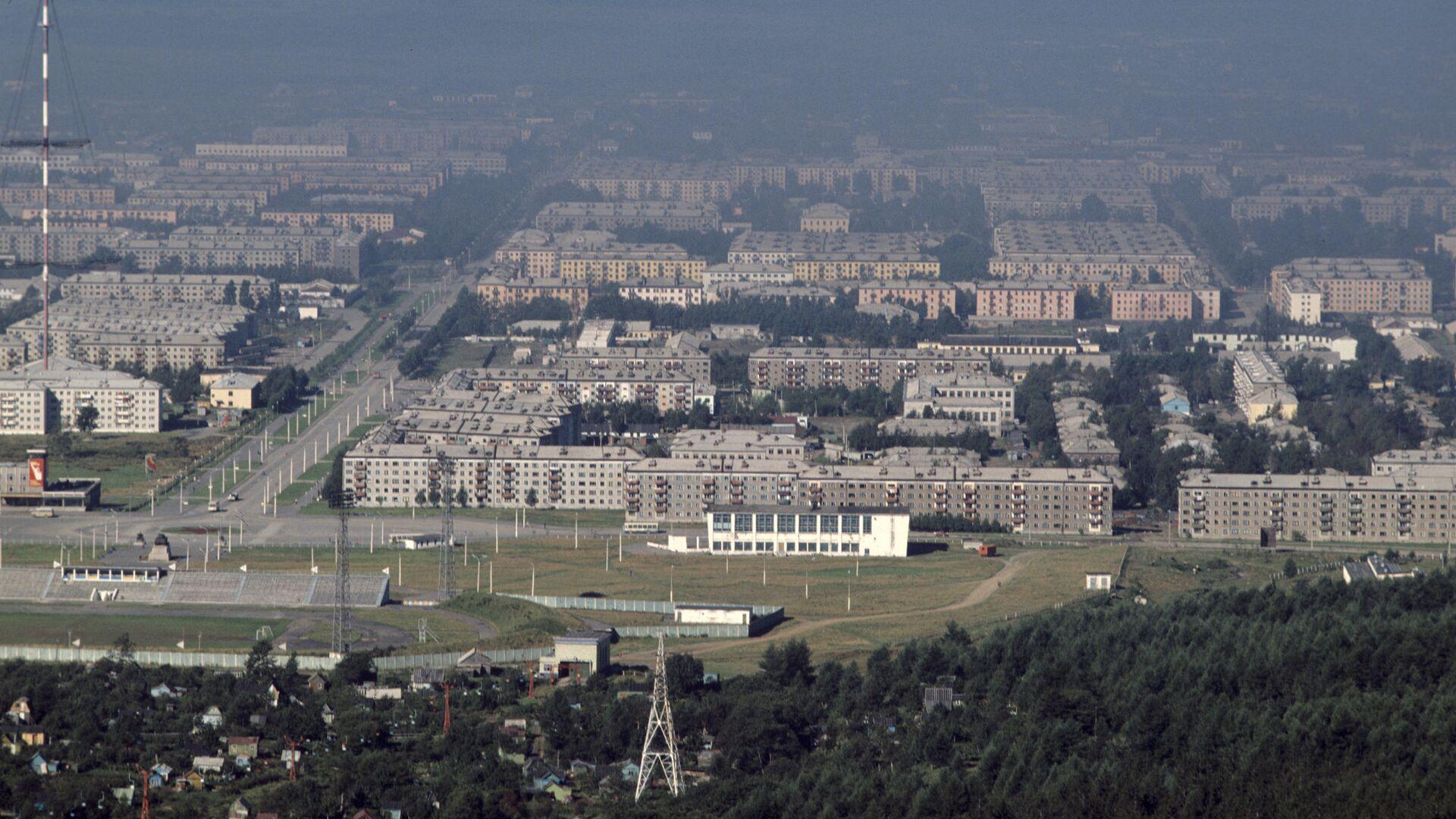 Вид на город Южно-Сахалинск - РИА Новости, 1920, 20.05.2021