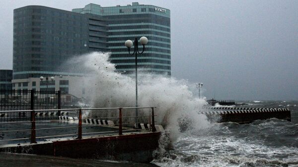 Тайфун в Приморском крае. Архивное фото