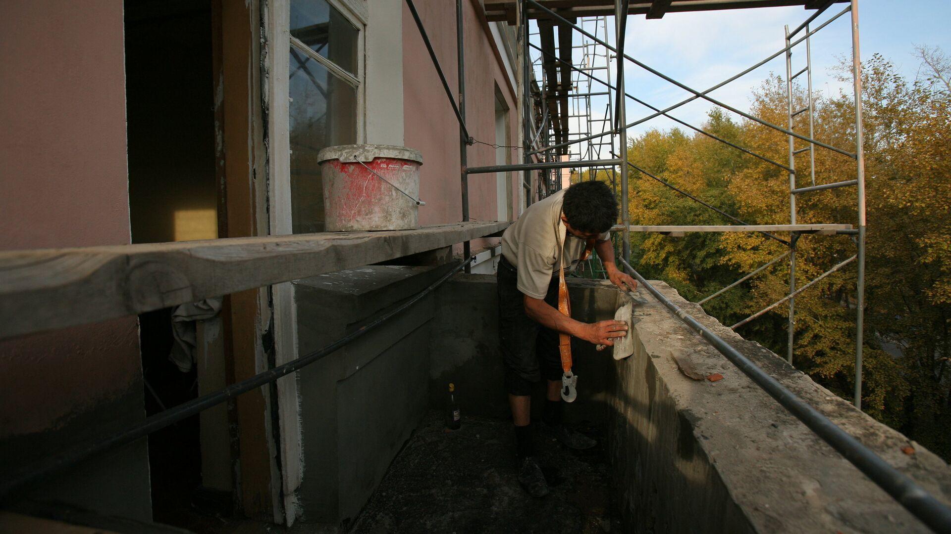 Ремонт балкона - РИА Новости, 1920, 31.08.2021