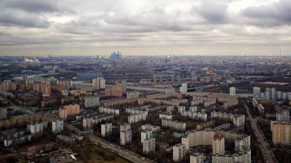 Жилые кварталы в районе станции метро Коломенская в Москве