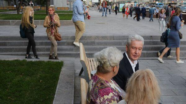 Мэр Москвы Сергей Собянин ознакомился с ходом благоустройства центра столицы