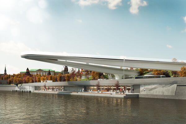 Проект бара и кафе на набережной рядом с парком Зарядье