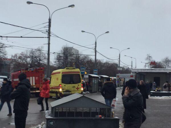Взрыв газового баллона в переходе у станции метро Коломенская в Москве