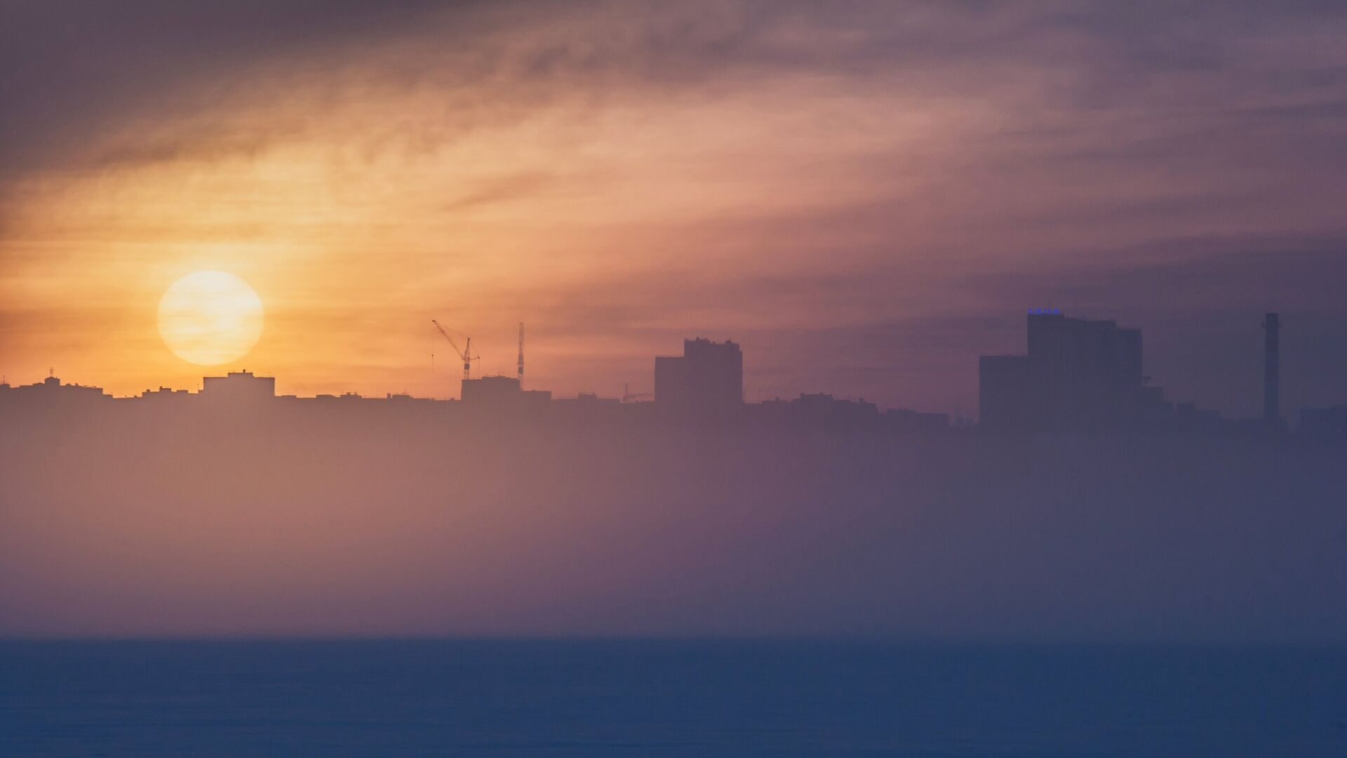 Туман в Петрозаводске - РИА Новости, 1920, 15.02.2017