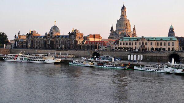 Набережная Эльбы в Дрездене