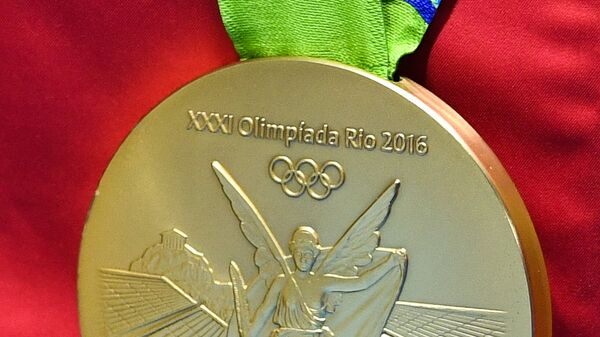 Золотая медаль летних Олимпийских игр в Рио-де-Жанейро