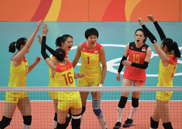 Волейболистки сборной Китая