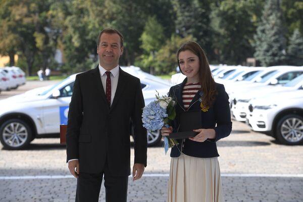 Дмитрий Медведев и Алия Мустафина