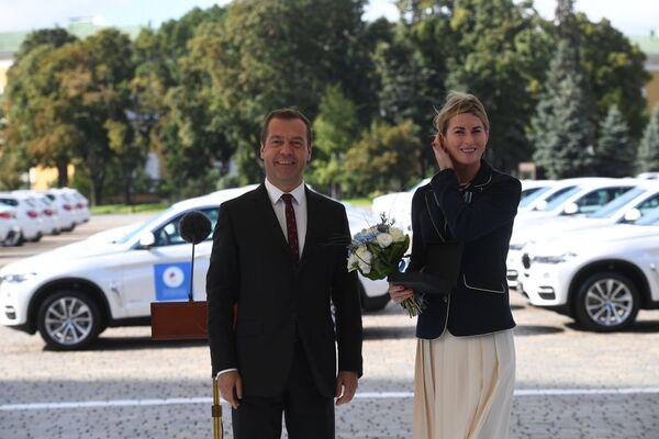 Дмитрий Медведев и Инна Дериглазова