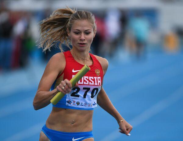 Маргарита Гончарова в эстафете на 4х100 м в классе Т-38 среди женщин