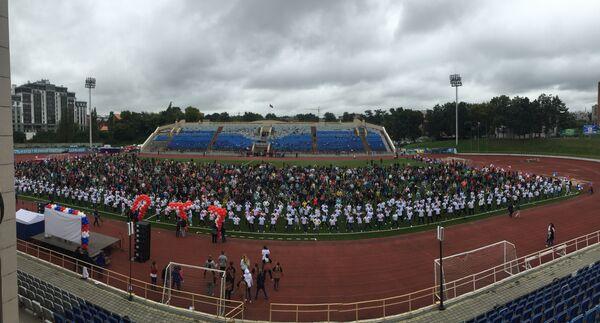 На Зарядку с чемпионом в поддержку ГТО в Рязани вышли 3 тысячи студентов