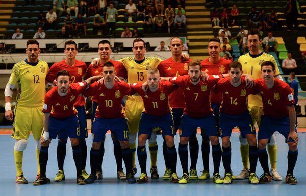 Игроки сборной Испании по мини-футболу