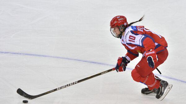 Игрок сборной России Людмила Белякова