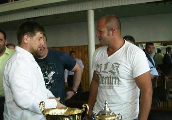 Рамзан Кадыров и Федор Емельяненко (слева направо)