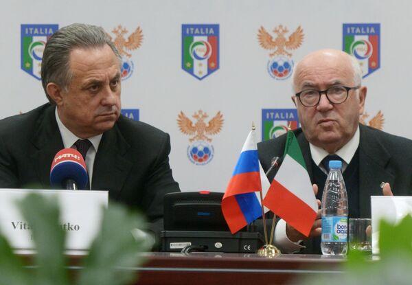Виталий Мутко и Карло Тавеккио