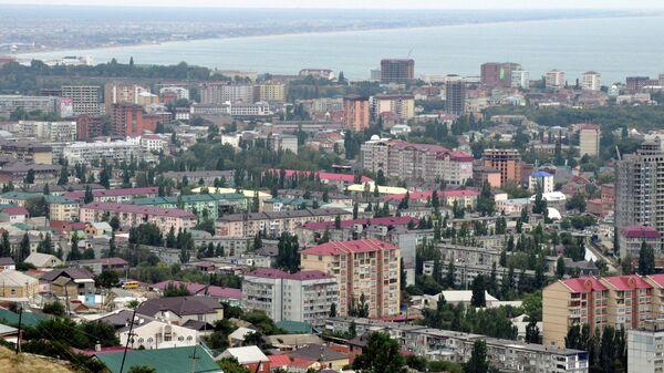 Вид на дагестанский город Махачкала