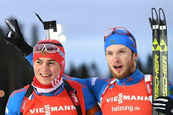 Слева направо: Антон Бабиков (Россия) и Максим Цветков (Россия)