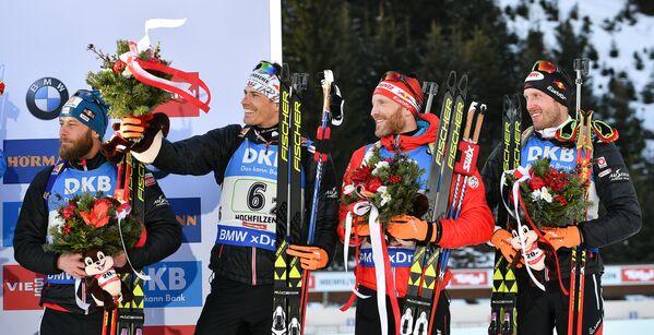 Даниэль Мезотич, Юлиан Эберхард, Симон Эдер и Доминик Ландертингер (слева направо)