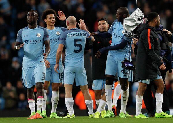 Футболисты английского Манчестер Сити