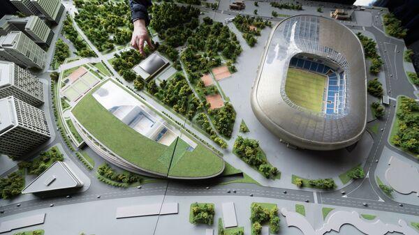 Макет стадиона Динамо в Москве