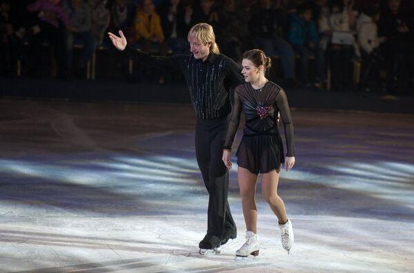 Евгений Плющенко и Аделина Сотникова