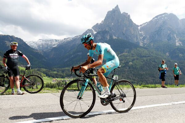 Итальянский велогонщик Микеле Скарпони