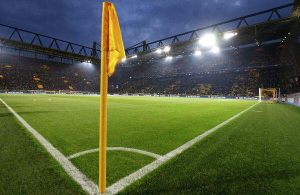 Вид на стадион дортмундской Боруссии Сигнал Идуна Парк