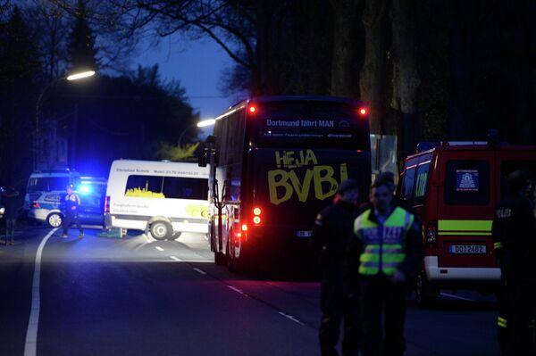 Автобус дортмундской Боруссии. Фото с места событий