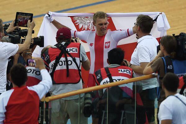 Польский велогонщик Адриан Теклинский