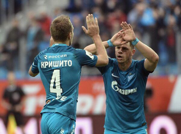 Футболисты Зенита Доменико Кришито (слева) и Виктор Жулиано