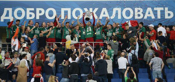 Футболисты Локомотива, ставшие обладателями Кубка России