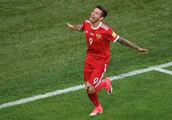 Нападающий сборной России по футболу Федор Смолов